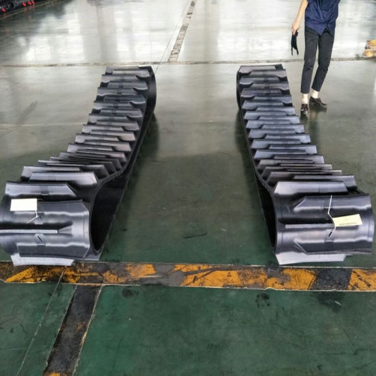550*90 Rubber Tracks Customized Specification, Agriculture Machinery Rubber Crawler pictures & photos