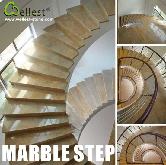 Granite/Marble/Slate/Limestone/Basalt Step Stairs Treads And Riser