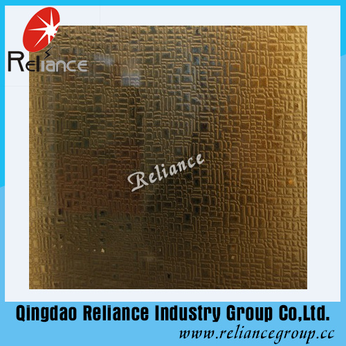 Silver /Golden Etched Glass/ Designed Decorative Glass / Hotel Decoration Glass/ Acid Etched Decorative Glass pictures & photos