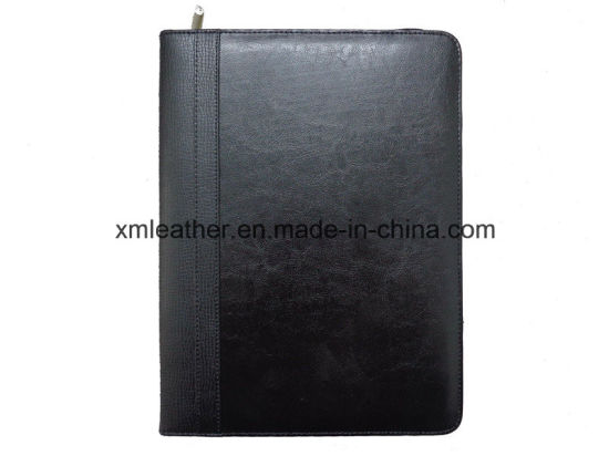 Office Supply Zipper PU Leather Conference Folder Agenda pictures & photos