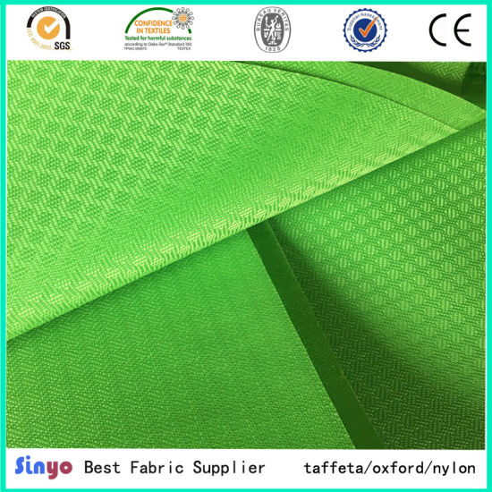 aa1600a894dc Oxford PU Coated Textile 400d Jacquard Ripstop Fabric for School Bags