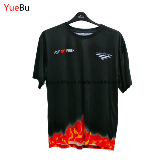 Custom Solid Color Printing 100% Polyester Fabric Sports Tshirt pictures & photos