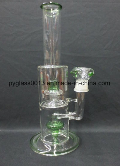 Beautiful Design 7mm Thickness Glass Smoking Water Pipe