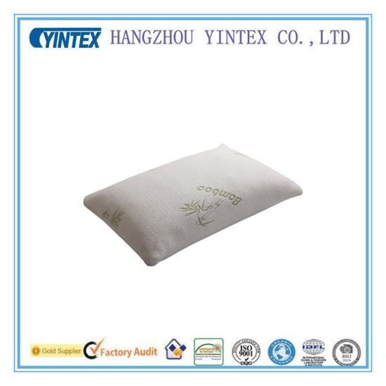 Popular Bamboo Fiber Shredded Memory Foam Pillow pictures & photos