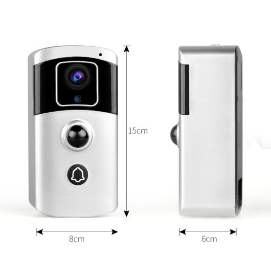 1080P WiFi Video Door Phone with 7650 Ma Polymer Lithium Battery 2MP Night Vision Video Doorbell WiFi