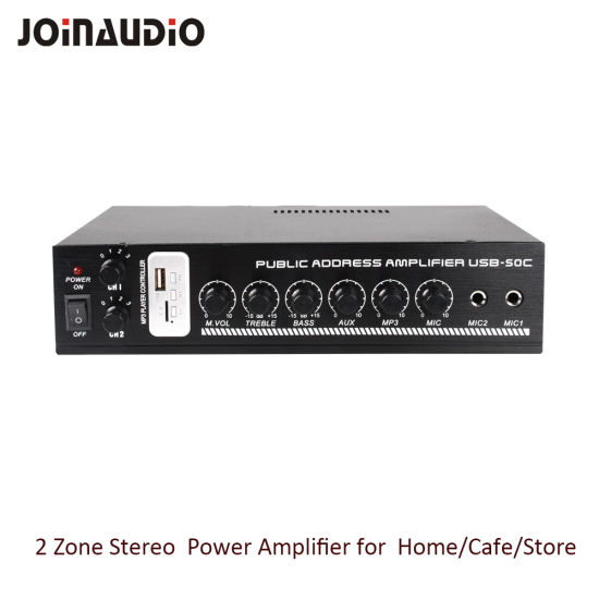 Stereo Amplifier Home Amplifier with MP3 Player (USB-50C)