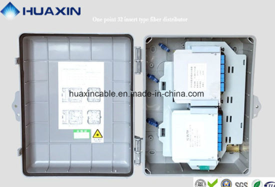 FTTH Optical Fiber Distribution Box with PLC Splitter pictures & photos