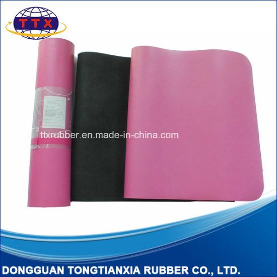 Custom Brand Logo PU Leather Natural Rubber Yoga Mat