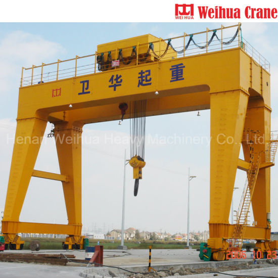 China Supplier Weihua Crane Double Girder Mobile Gantry Crane 20 Ton 30 Ton 40 Ton Price