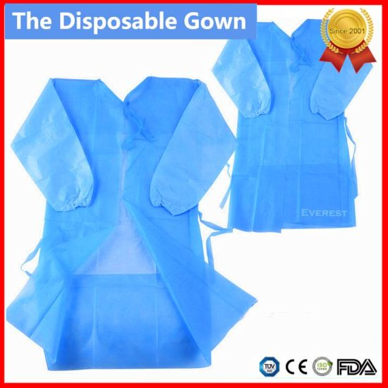 China Disposable Medical No-Woven Surgical Gown - China Disposable ...