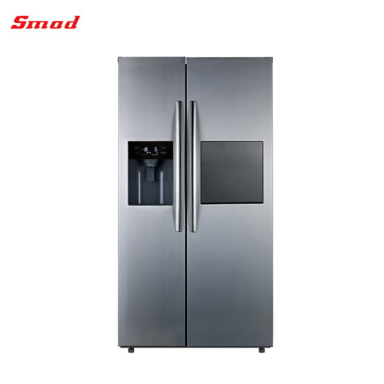 Stainless Steel Side by Side Refrigerator with Water Dispenser