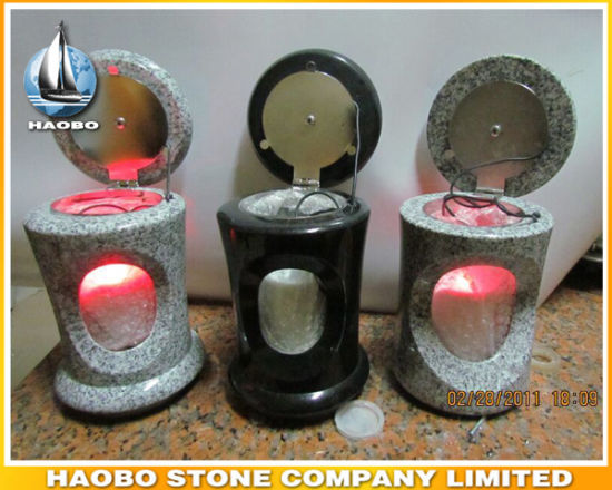 Granite Cemetery Lantern Wholesale LED Light Lantern pictures & photos