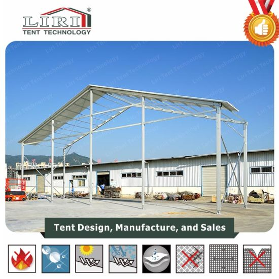 Sandwich Roof Temporary Aluminum Warehouse Storage Shelter Tent pictures & photos