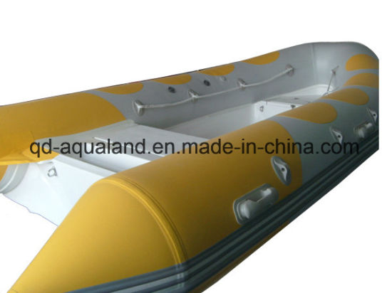 Aqualand 14feet 4.2m Rigid Inflatable Boat Fiberglass Fishing Boat (RIB4200b) pictures & photos