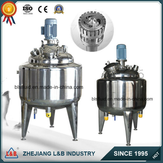 Stainless Steel Electric Jacketed Vacuum Emulsifying Mixer