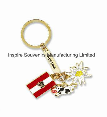 Fancy Charms Metal Gold Keychain (SK817)