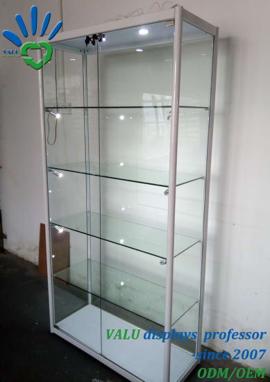Used Lockable Gl Doors Ornaments Display Cabinet With Storage