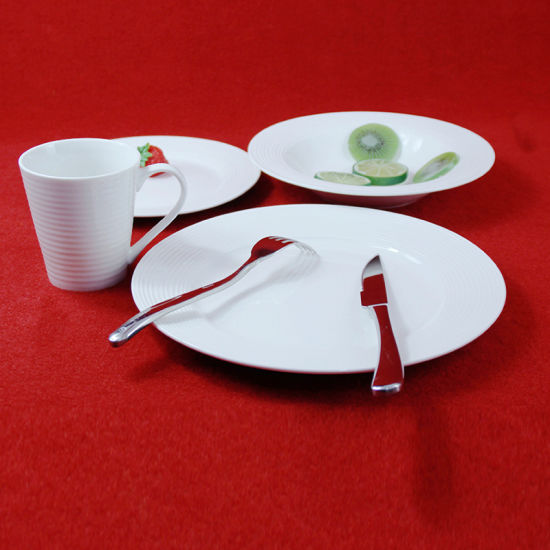 Cheap Tableware Ceramic Embossed White Plate & China Cheap Tableware Ceramic Embossed White Plate - China Porcelain ...