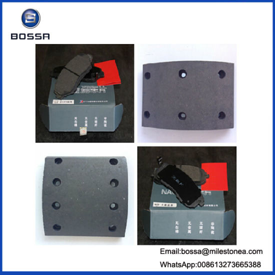 Auto Parts Brake Pads with 220mm Oil System 38 Holes Brake Shoe for Nissan Heavy Duty Truck pictures & photos