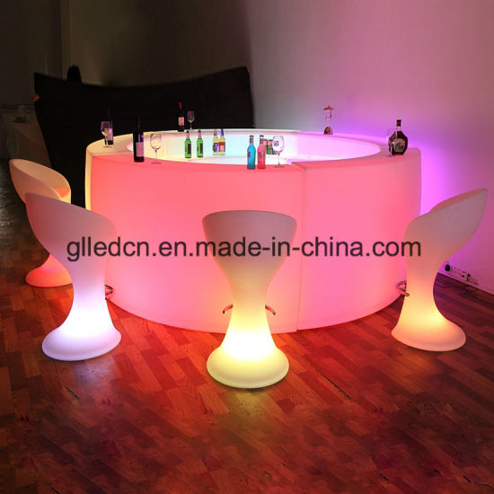 Modern and Glowing Tables and Chairs Used for Restaurant