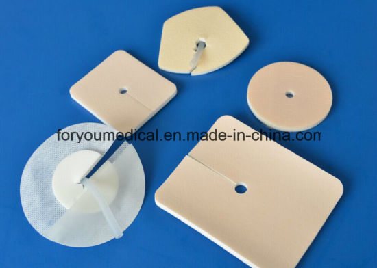 PU Foam Tube Tracheostomy Foam Dressings pictures & photos