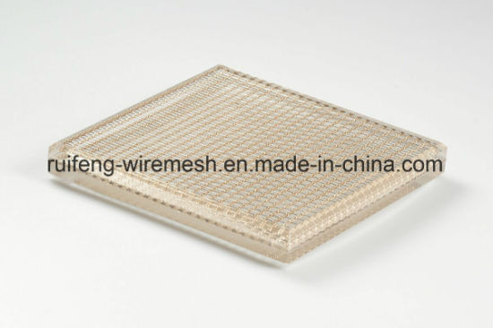 China Security Decorative Wire Mesh Glass Metal Mesh Laminated Glass ...