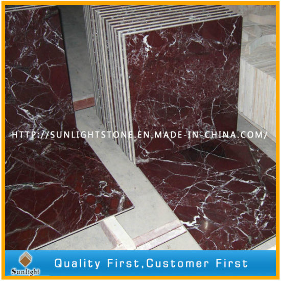 China Polished Rosso Lepanto Red Large Marble Floor And Wall Tiles