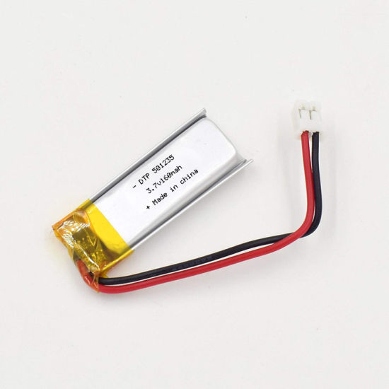 Hot Sale Lithium Polymer Battery Dtp501235 3.7V 160mAh Rechargeable Battery