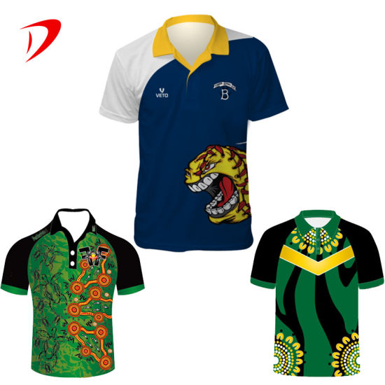 2021 Custom Sublimated Design Creen Polo Shirts Cricket Online Supplier China Jersey Shop Set Printing Shirt Cricket Jersey