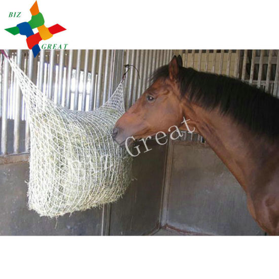 China Small Mesh Hay Bag Slow Feeder Type Horse Feed Bags
