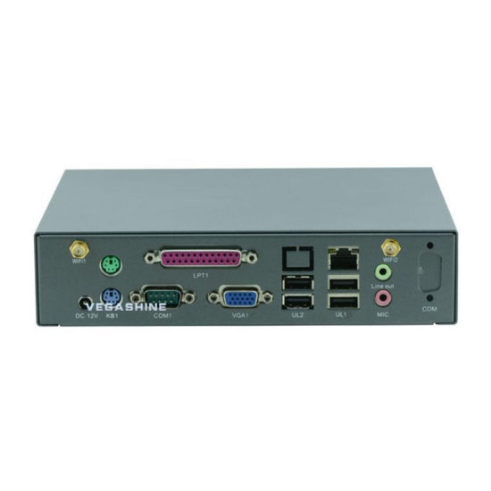China Desktop Type Celeron 1037u Fanless Mini PC with