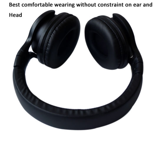 Big Size And Best Comfortable Wearing Isolation Noise Over Ear Bluetooth Headphone Black China Wireless Bluetooth Headphone And Bluetooth Headset Price Made In China Com