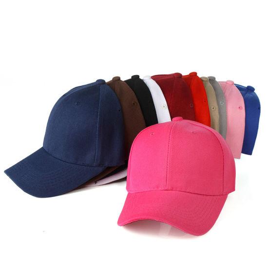 Wholesale Hats 100% Cotton Customized Promotional 5/6 Panel Plain Sports Baseball Cap Hat