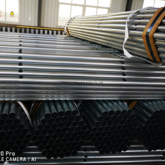 3 or 4 Holes Chicken Feeding Line Hot Dipped Galvanized Pipe for Poultry House