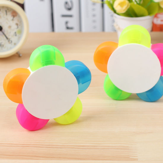 High Quality 5 in 1 Flower Shape Highlighter Marker Pen for Promotion (XL-2026)