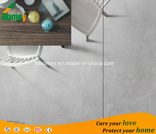 Glossy Grey Building Material Polished Porcelain Glazed Ceramic Wall and Floor Tile