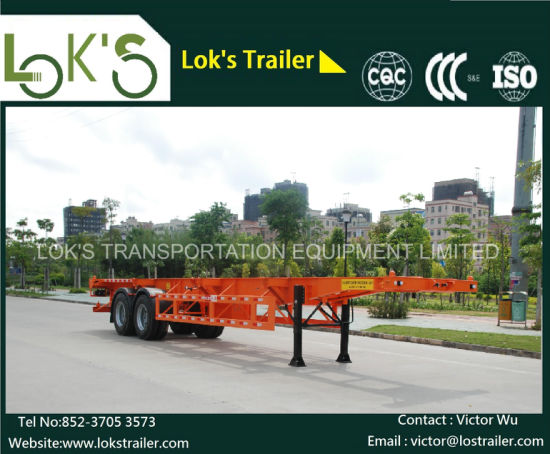 40 Feet 2 Axles Skeleton Container Van Semitrailer pictures & photos