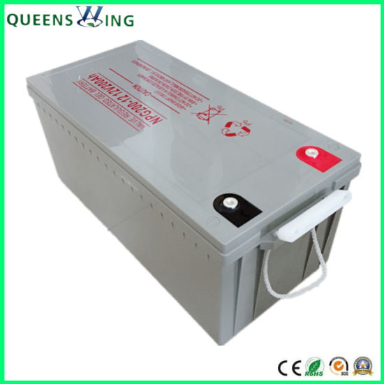 Maintenance Free Rechargeable Battery 12V 200ah Solar Battery (QW-BV200Ah) pictures & photos