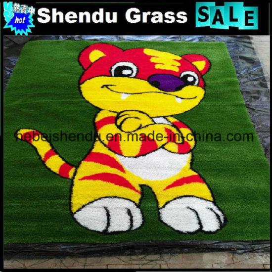 20mm Height Artificial Grass Floor Mat with Carton Patten