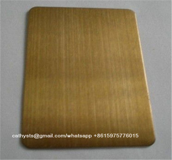 201 304 Rose Gold Brushed Finished Stainless Steel Sheet pictures & photos