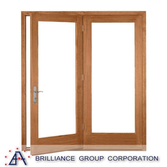 Wood Color French Aluminium Bedroom Door