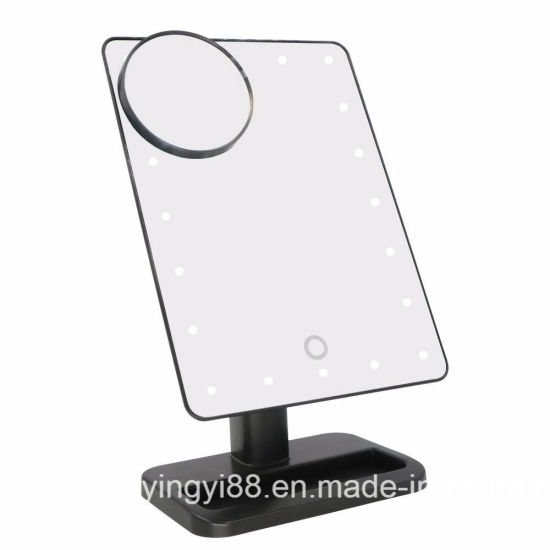 High Quality LED Makeup Mirror Tabletop Lighted Cosmetic Vanity Mirrors pictures & photos