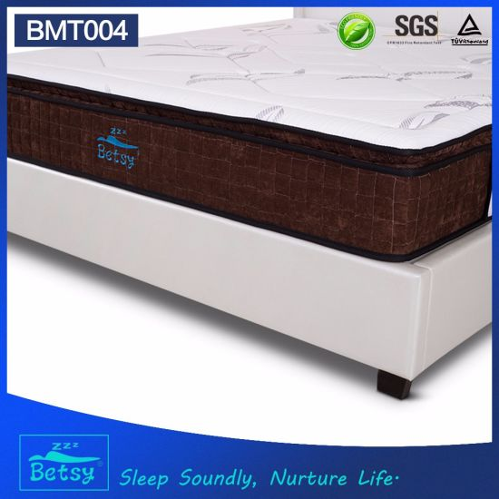 OEM Resilient Pocket Spring Mattress 27cm with 5 Zone Pocket Spring and Relaxing Memory Foam pictures & photos