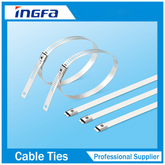 Stainless Steel Coated Black Ladder Single Barb Locking Cable Tie pictures & photos