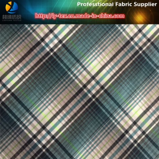 Nylon/Polyester Blended Spandex Yarn Dyed Fabric for Shirt