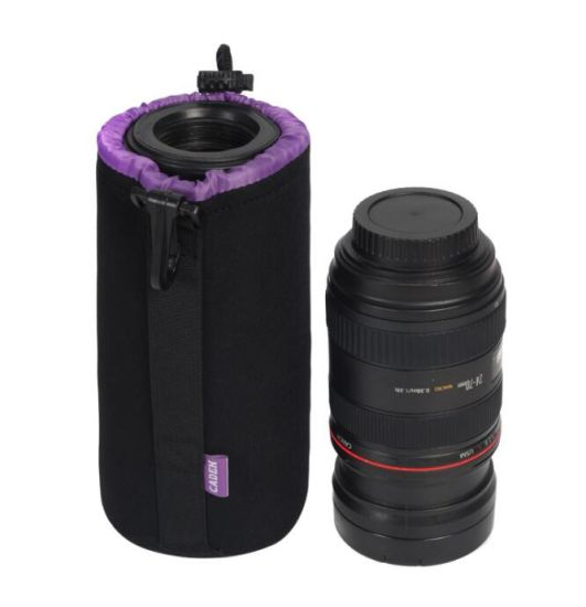 Purple Camera Lens Drawstring Bag 4 Pouches pictures & photos