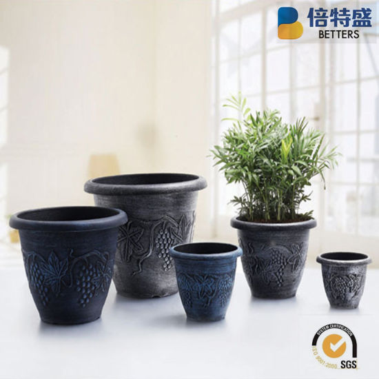 Made-in-China.com & [Hot Item] Save 10% Free Sample Premium Brass Brushing Ornamental Plants Paint Plastic Flower Pots Planters