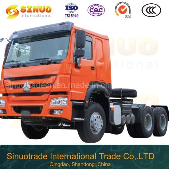 Used HOWO 10X Tyres Tractor Truck Heavy Duty Truck Tractor Head Trailer Head Tractor Head Truck 371HP/375 6X4 Sinotruk Low Price Hot Sale