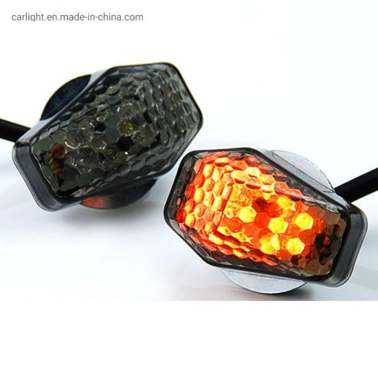 Universal Motorcycle Bike LED Amber+Red Turn Signal Light Indicator Blinker Lamp