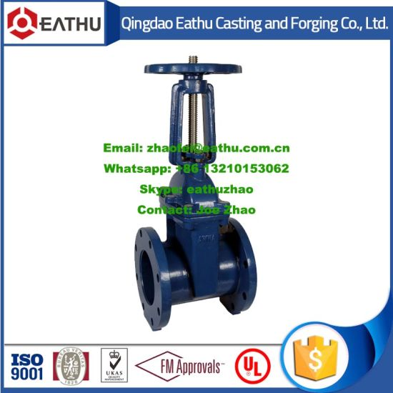 DIN 3352 Flanged End Resilient Seat Non-Rising Stem Gate Valve pictures & photos